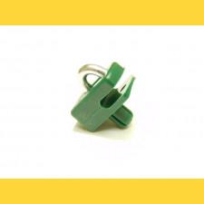 Vodiaca spinka s klinčekom na napínací drôt / zelená / bal.10ks