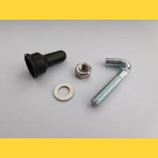 Háková skrutka KOMPLET (skrutka+matica+podložka+čiapočka)