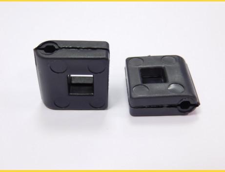 Vymedzovač PVC na príchytku / 4mm / čierny / (bal. 10ks)