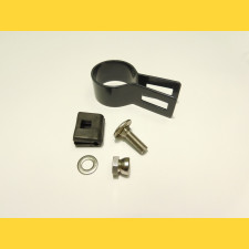Príchytka panelu na stĺp 48mm / 4mm / koncová / ZN+PVC7016