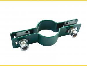 Príchytka panelu na stĺp 48mm / 5mm / priebežná / ZN+PVC6005