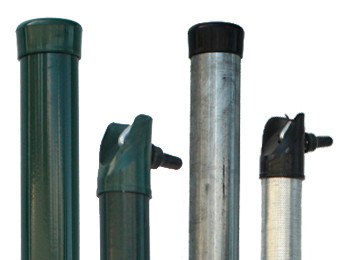 Posts and brace posts for chain link fence
