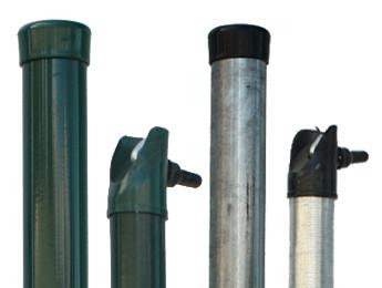 Zaunpfosten und Streben für Maschendrahtzäune