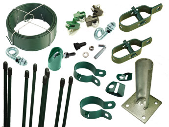 Accessories for chain link fences