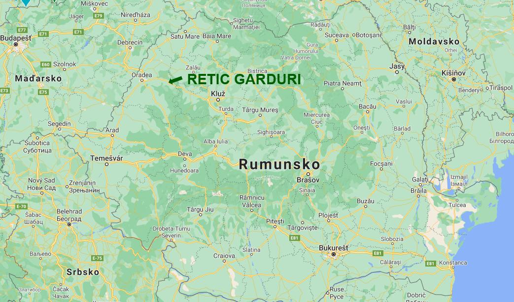 Mapa Rumunsko